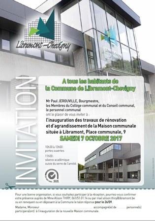 Inauguration à la Maison communale le 7 octobre
